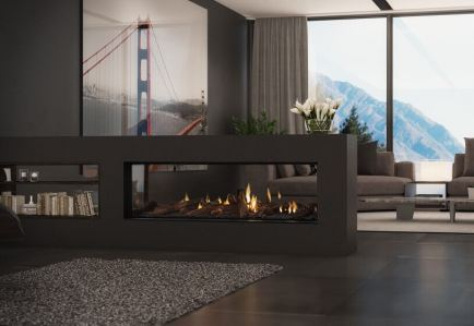 Escea DS1400 double sided gas fire place