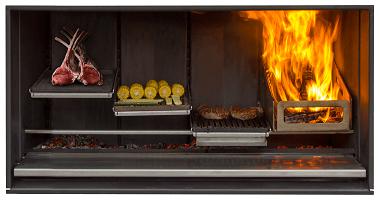 Escea EK1250 Outdoor Fireplace Kitchen