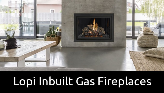 Lopi inbuilt gas fireplaces