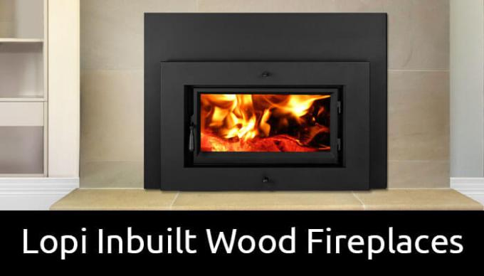 Lopi inbuilt wood fireplaces