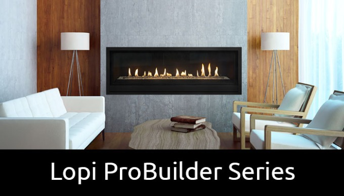 Lopi ProBuilder gas fireplaces