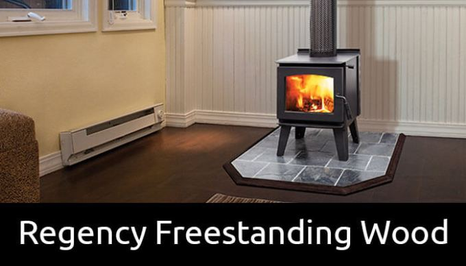 Regency freestanding wood fireplaces