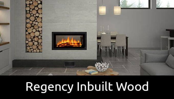 Regency inbuilt wood fireplaces